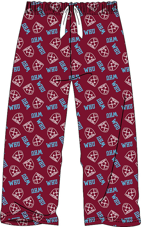 BOYS WEST HAM LOUNGE PANT 5-14YRS