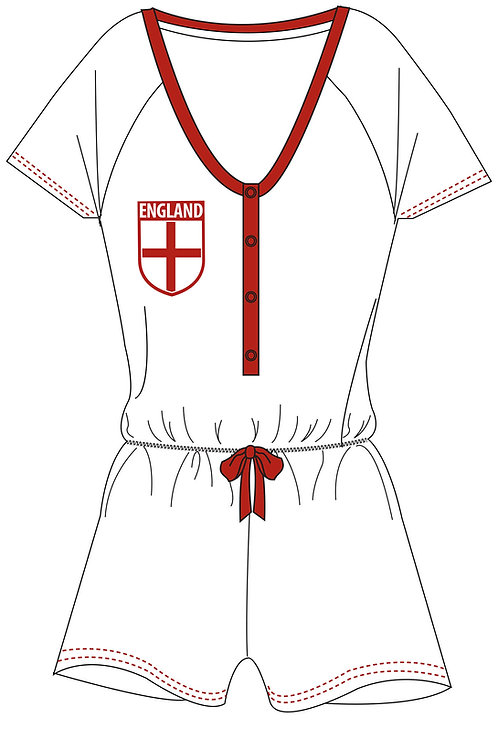 Girls England Playsuit 11-14yrs