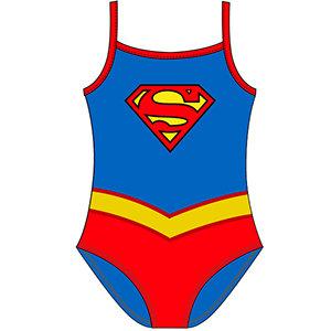Girls DC Originals Supergirl Swim Suit 2-6yrs