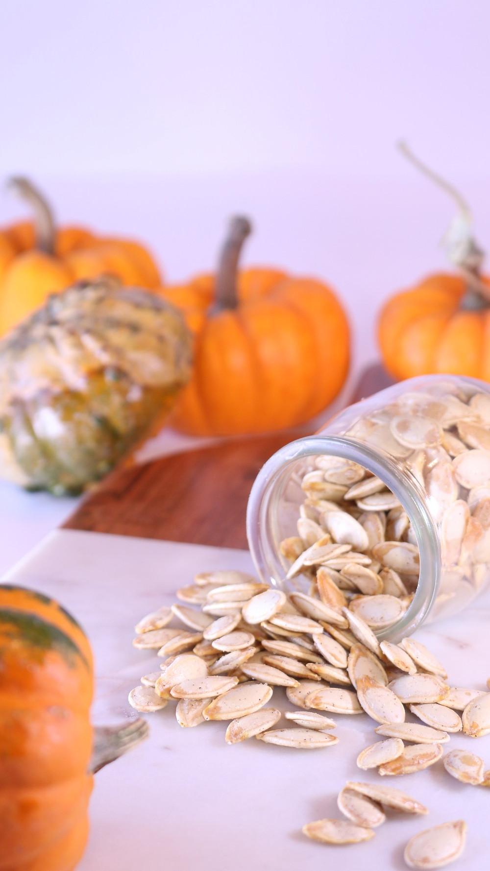 Crispy Baked Pumpkin Seeds