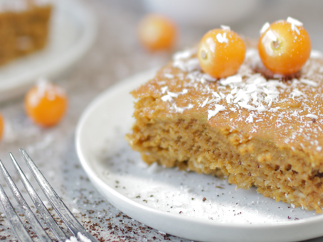 Pumpkin Coconut Sheet Cake