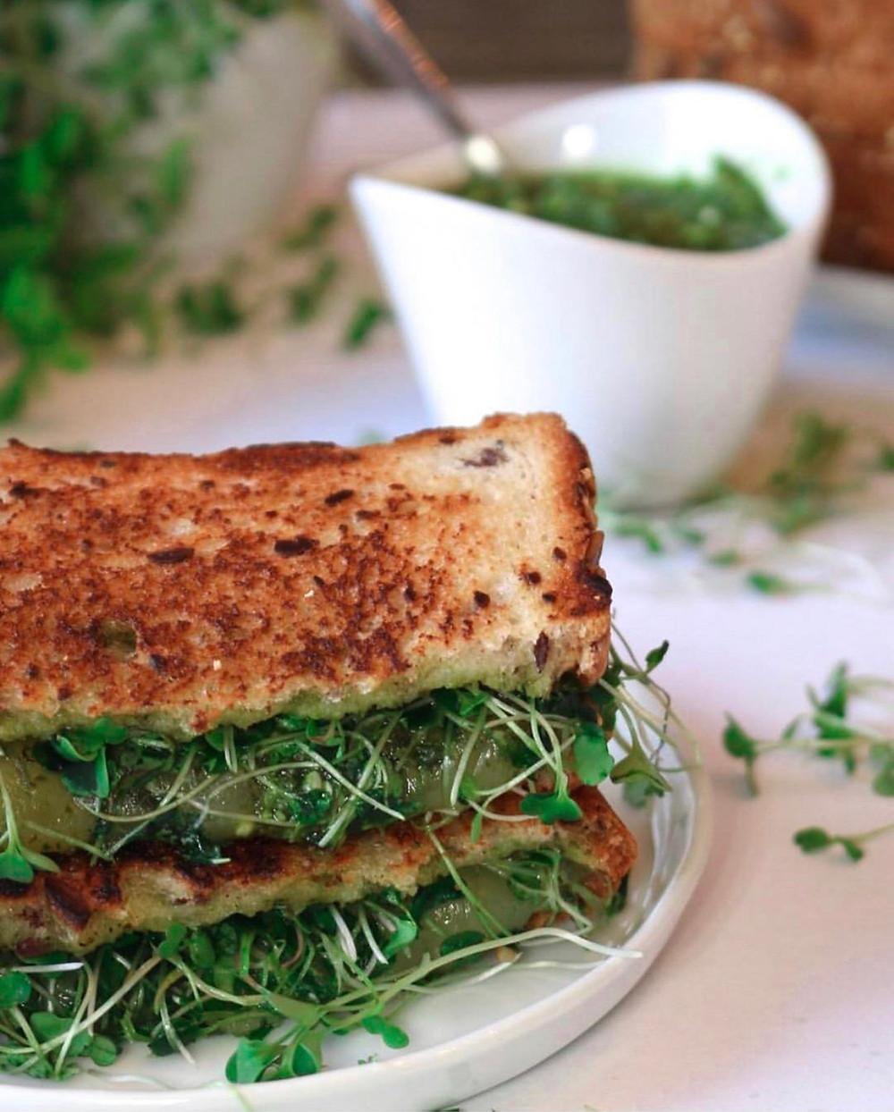 Gluten-free Little Northern Bakehouse Grilled Cheese Sandwich