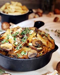 Gluten-free Plant-based Vegetarian Mushroom Stroganoff