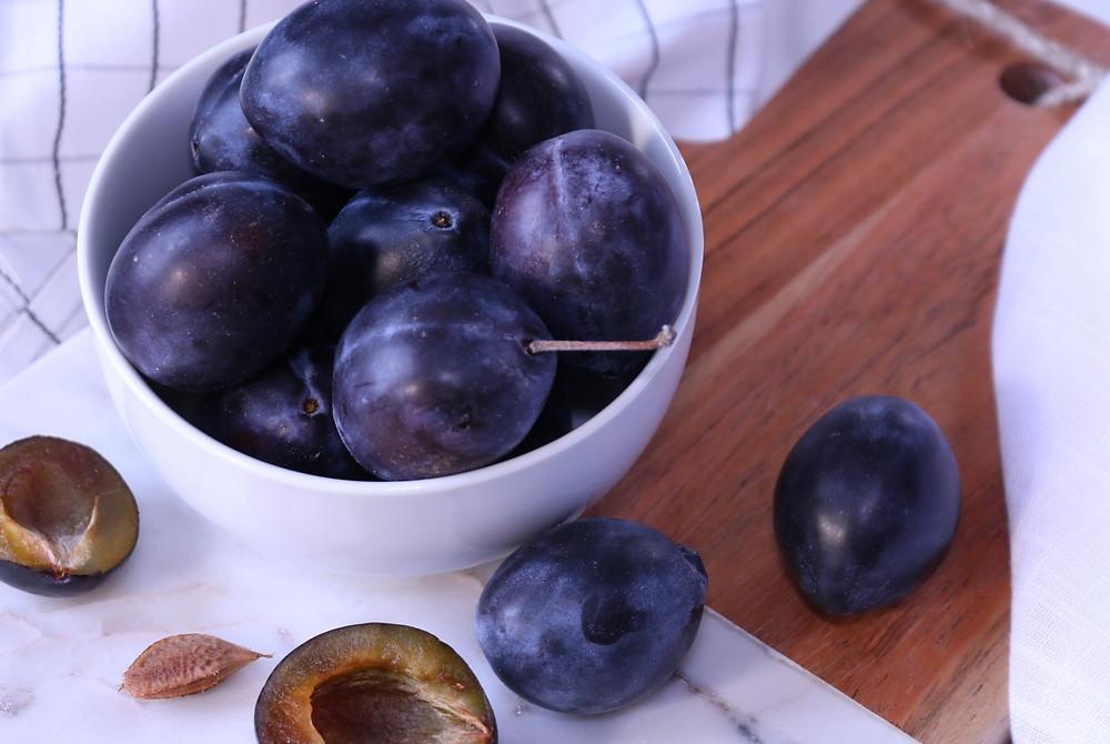 fresh plums fruit