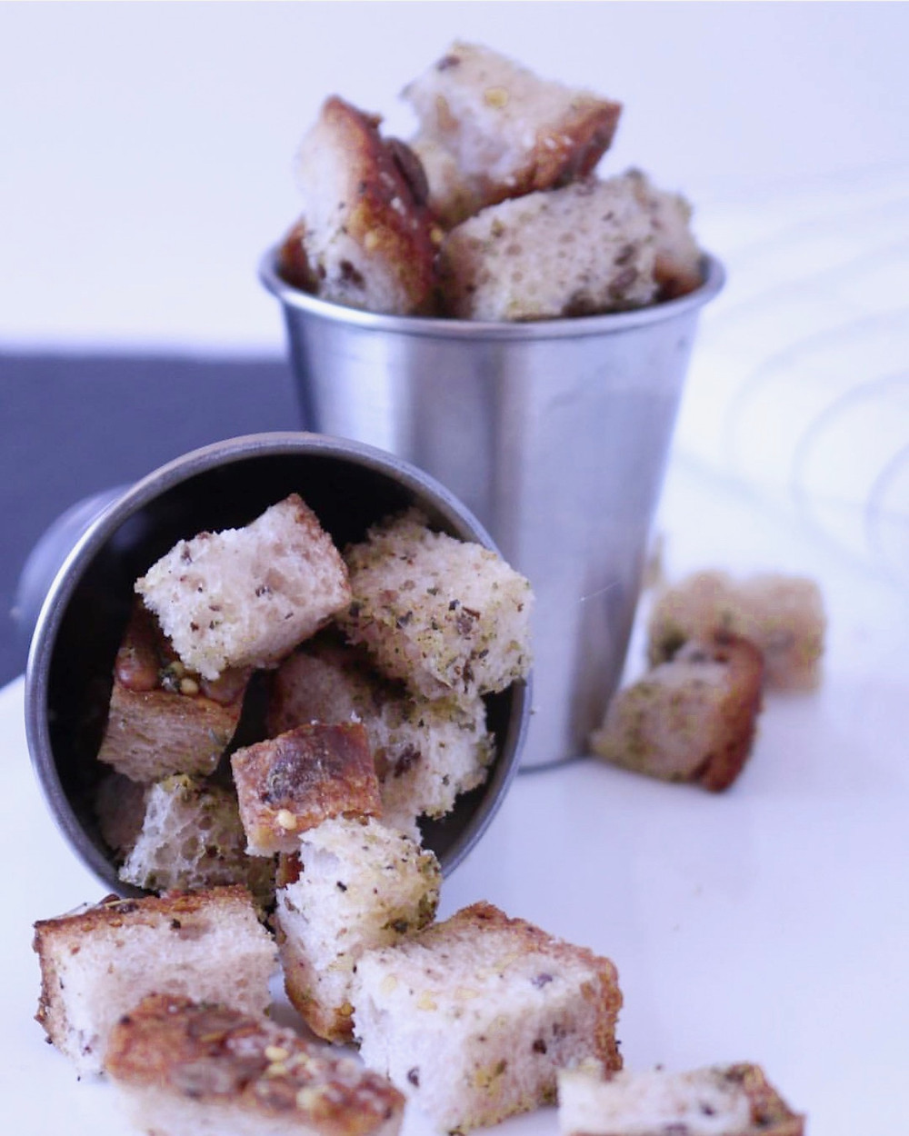 Gluten-free Croutons Using Little Northern Bakehouse Bread
