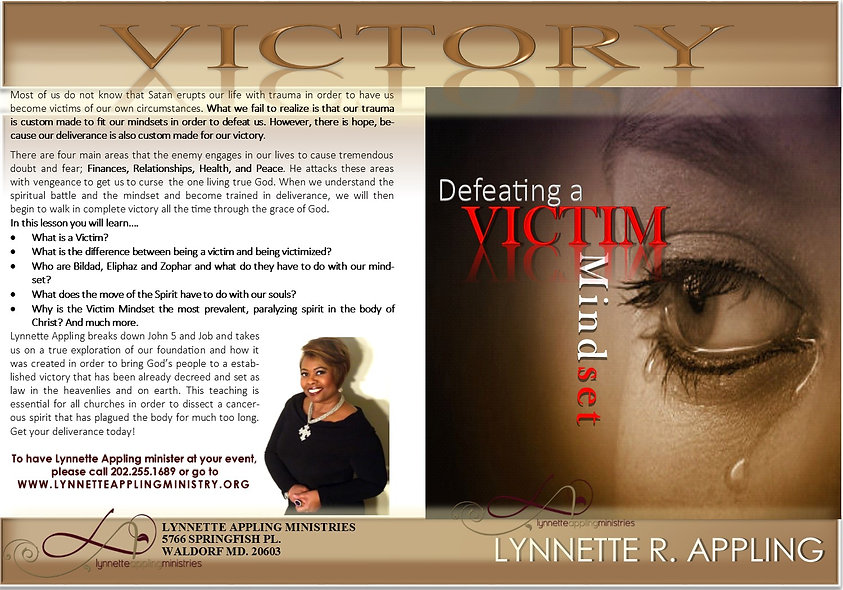 DEFEATING A VICTIM MINDSET DVD
