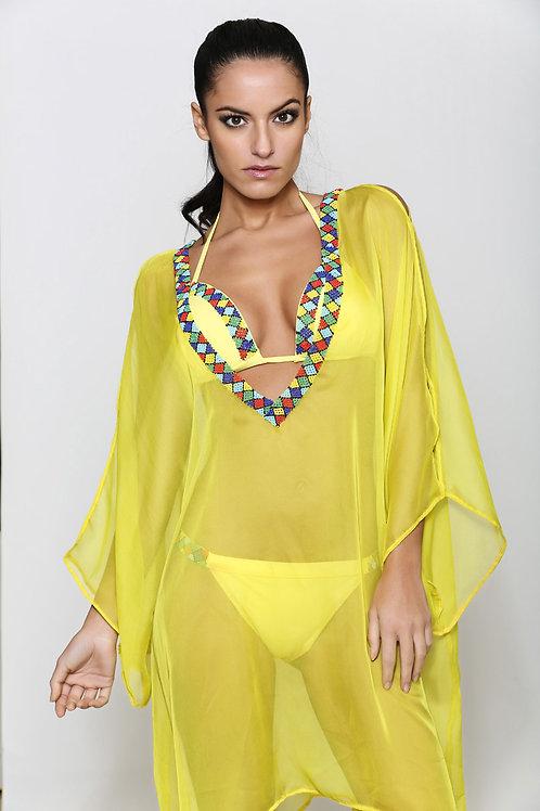 0122 Tunique jaune style Péruvien