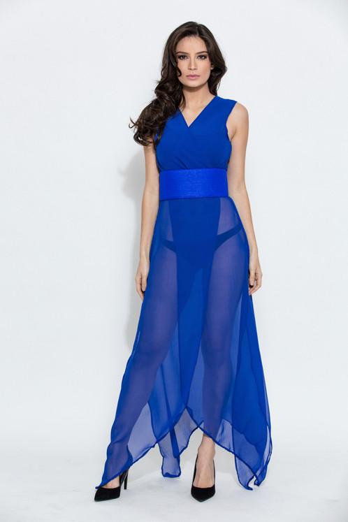 Électrique Tunique Kimono Orza Veste Bleu 0022 xavY6