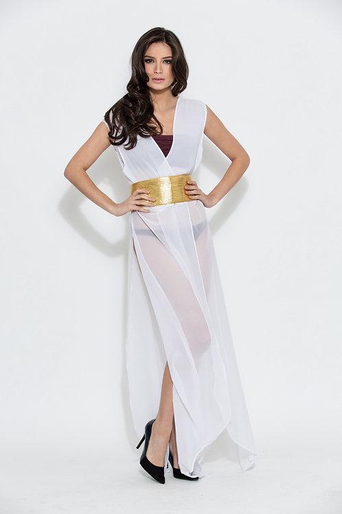 0022 veste tunique kimono Orza jaune blanc or