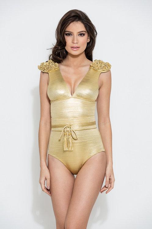 99886 Maillot de bain epaulette Gold