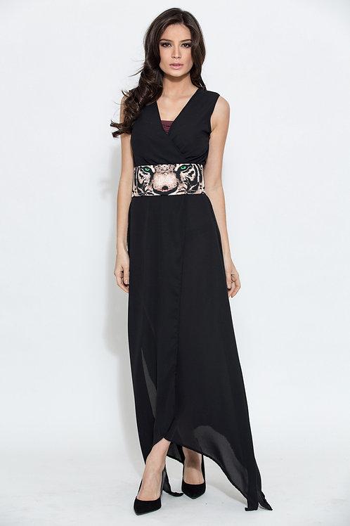 0022 veste tunique kimono Orza noir tigre