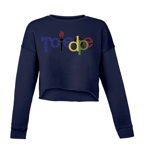 Crop Top  Sweater ( Navy Blue)