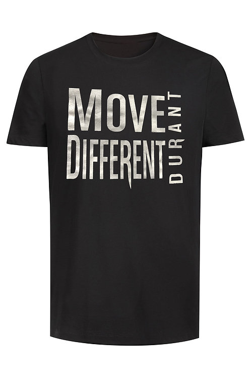 Move Different Black Tee Shirt