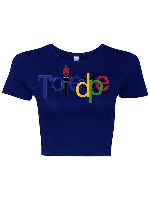Rings Crop Top Royal Blue (Women's Shirt)