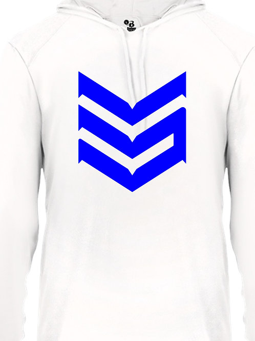 Dri Fit Hoodie (White and Blue)