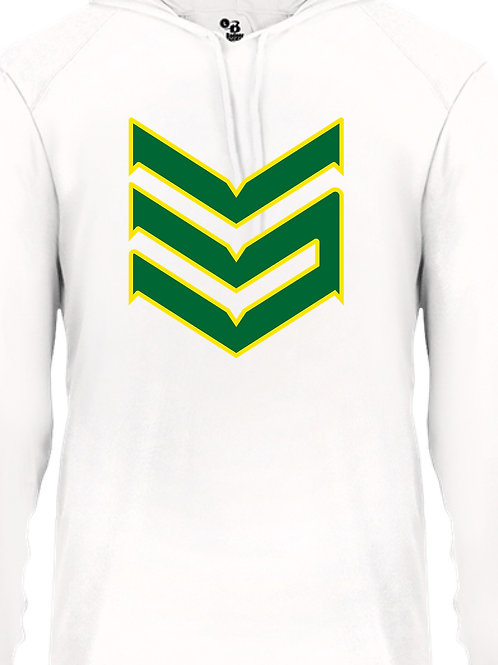 Dri Fit Hoodie (White and Green)