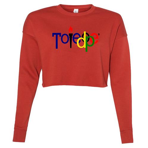 Crop Top  Sweater ( Brick)