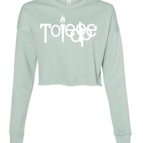 Crop Top  Sweater ( Dusty Blue)