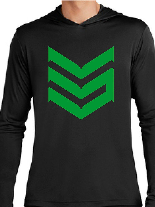 Dri Fit Hoodie (Black and Green)