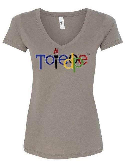 Womens Grey V-Neck Toledope