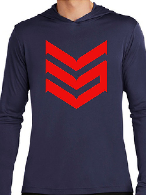 Dri Fit Hoodie (Navy Blue and Red)