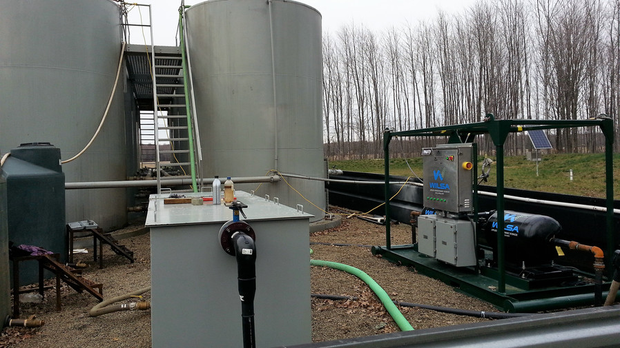 Hudson Coalescing Oil Water Separator in action @ 50 GPM