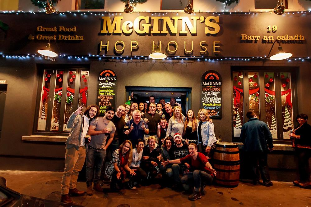 Nollaig Shona Daoibh  Christmas opening & closing hours at McGinn's  24th December Kitchen closing 4pm & Bar 6pm  26th & 27th December Opening bar & kitchen @ 2pm  Booking Advisable