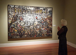 "The Gathering, 1989 -1998, oil on linen, 78"" x 114"", acquired in 2015"
