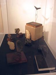 Jade & Stone Sculptures with Metal & Wood Stands