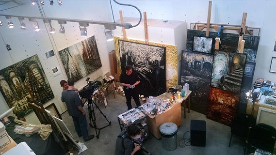 Michael Collins at his studio