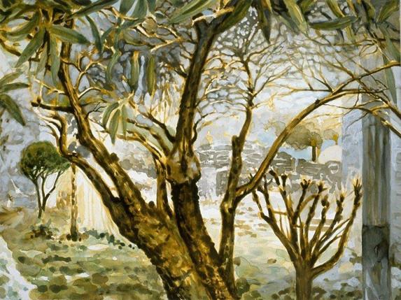 Poet's Garden (Left Panel)
