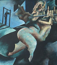 "Gallows Dancer, 1946, 35""x 29"""