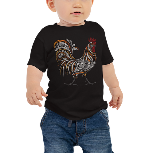 Boho Rooster Baby Tee