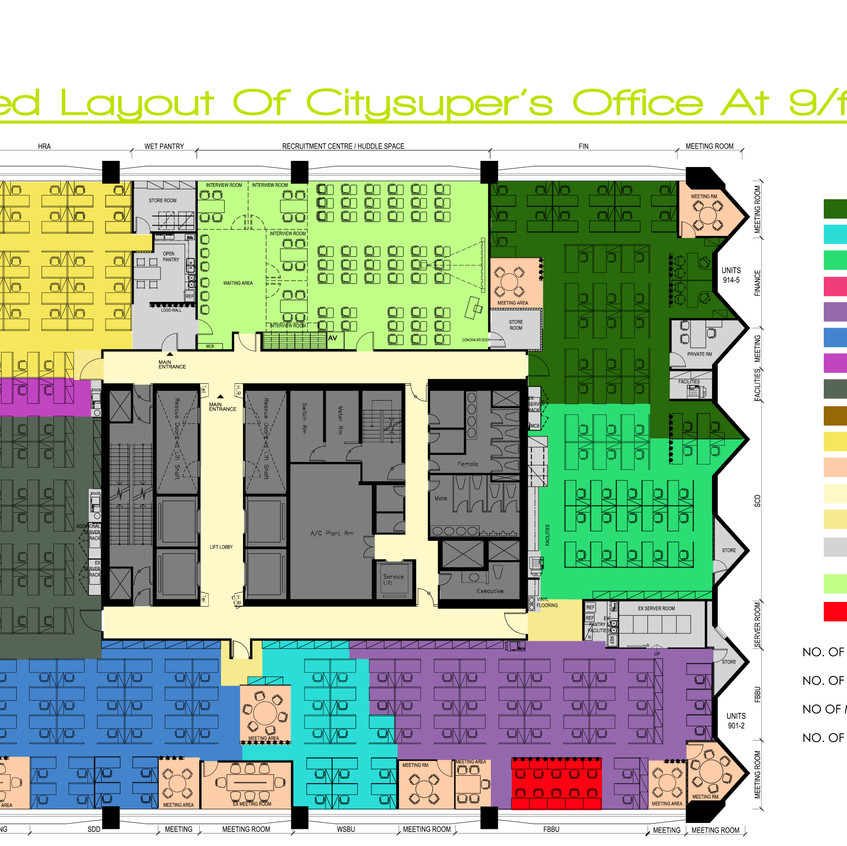 17a_Proposed layout of citysuper office at 9f - option B
