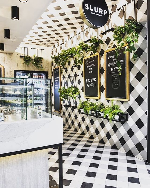 Ref image_ floor material can go through to ceiling too #interiordesign #interiordesignideas #moderninteriordesign #moderninterior #cafeinte