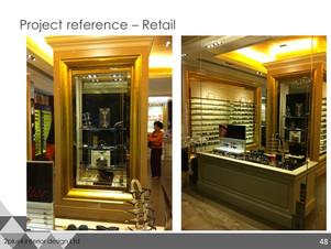 Berlin glasses shop Retail Project, Hong Kong