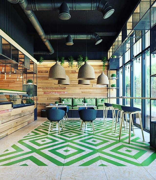 Ref image_ once again, graphic can help to create a different mood of interior design #barinteriordesign #barinterior #restaurantinteriordes