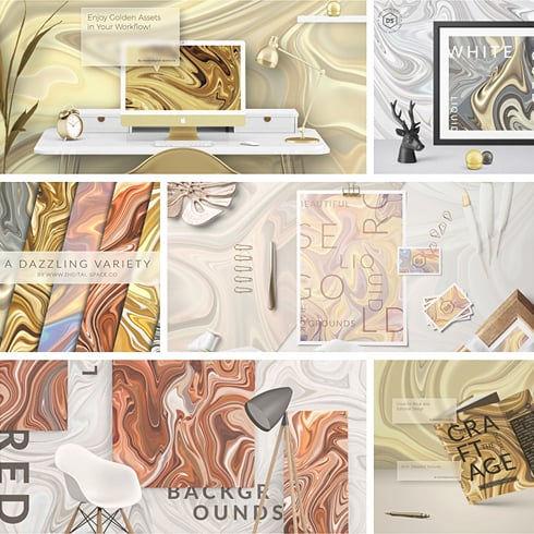 300 Liquid Gold Backgrounds