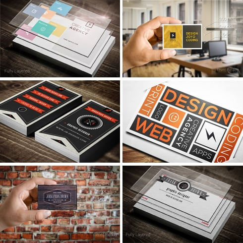 30 Retro and Minimal Business Cards Bundle