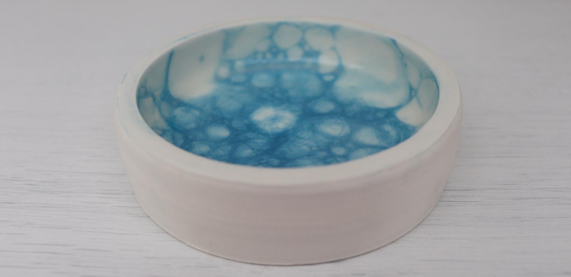 Sky blue coin dish