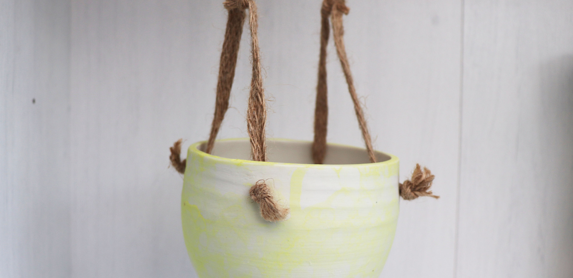 Hanging Planter in Yellow