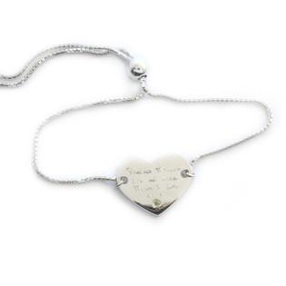 Engraved Heart Bracelet.