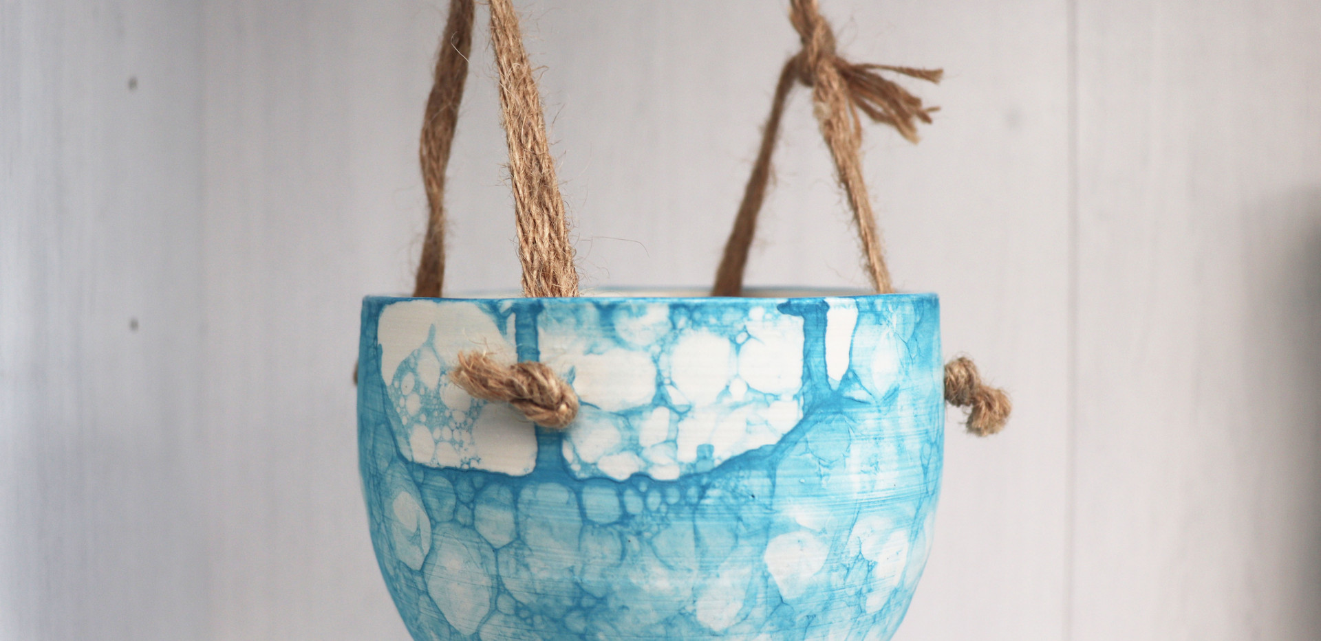Hanging Planter in Sky Blue