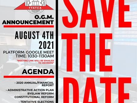 OGM - 4th August 2021