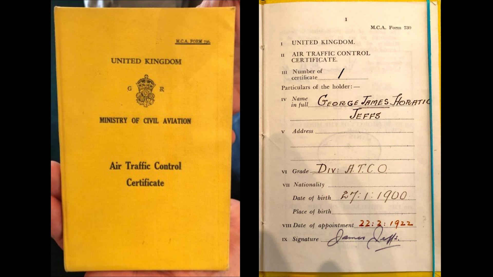 First Air Traffic Controller License