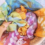 Hand Dyed Silk Bandanas
