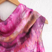 Detail of Hand Dyed Silk Scarf