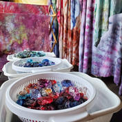 Ice Dyeing in Process