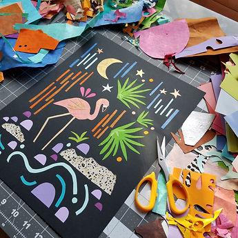 Paper Collage Illustration