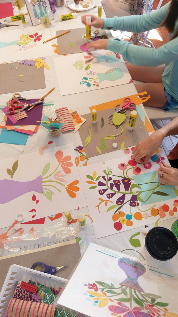 Floral Paper Collage Workshop